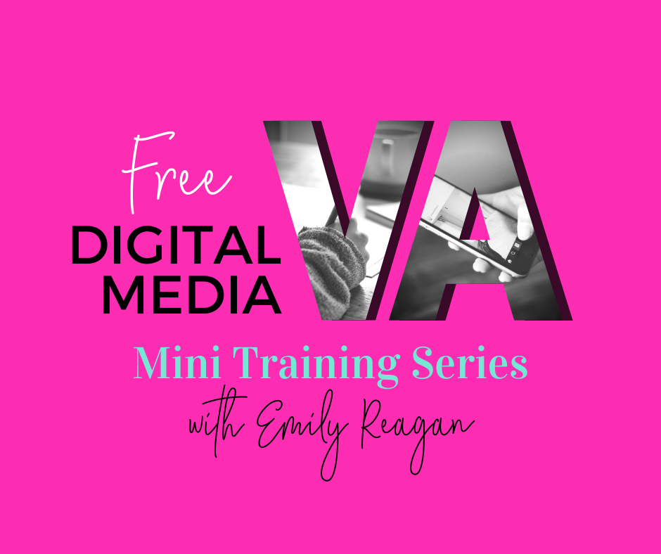 Free Digital Media VA training graphic