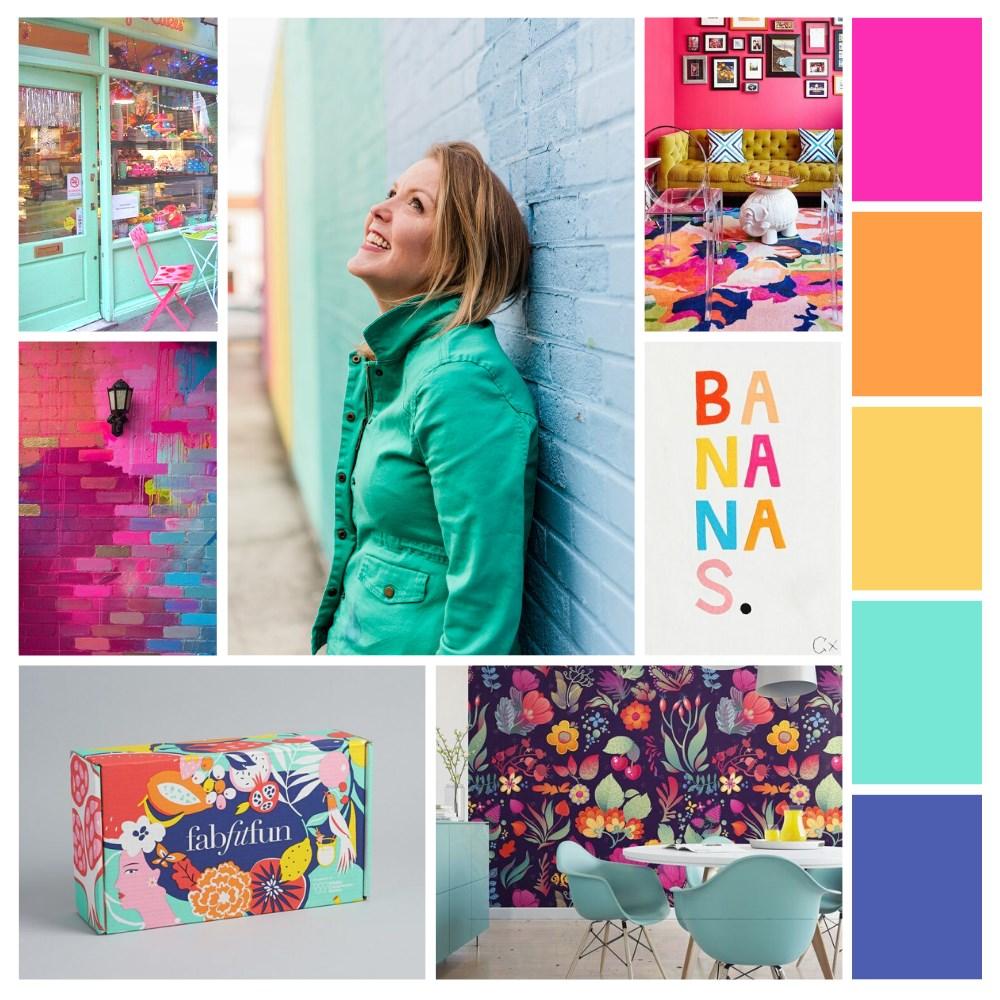 Mood Board for Brand by Sarah Masci of Bracken House Branding for Emily Reagan PR