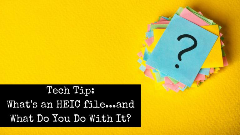 Tech Tip Question HEIC to JPG by Emily Reagan PR