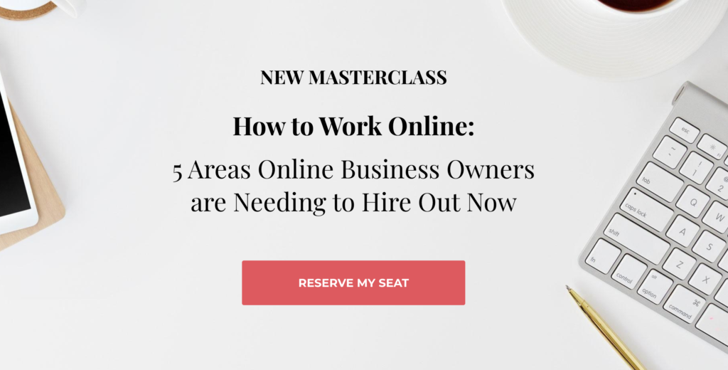 Virtual Assistant Free Masterclass Webinar by Emily Reagan PR