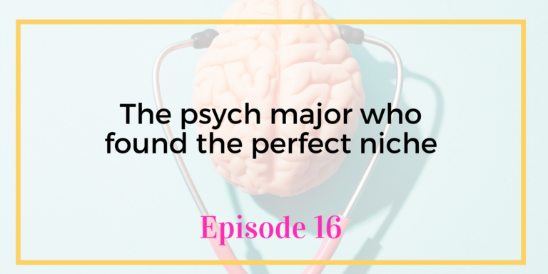 Episode 16 Unicorns Unite with Emily Reagan The Psych Major who found the perfect niche