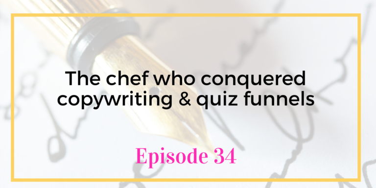 Episode 34 the chef who conquered copywriting Chanti Zak Unicorns Unite VA Podcast
