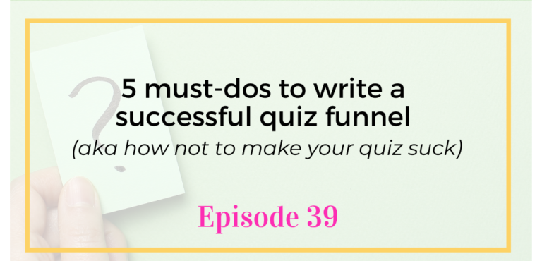 Digital Marketing Virtual Assistant Training Episode 39 5 must-dos to write a successful quiz funnel with Chanti Zak