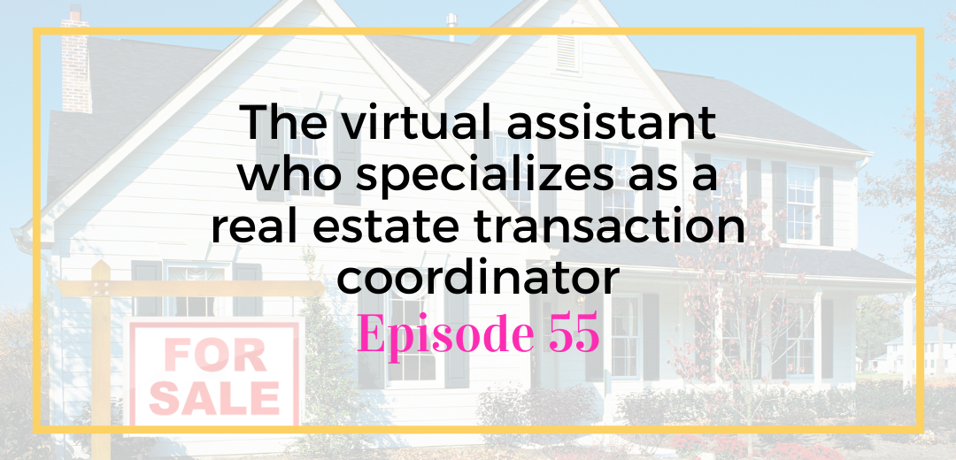 The virtual assistant who specializes as a real estate transaction coordinator