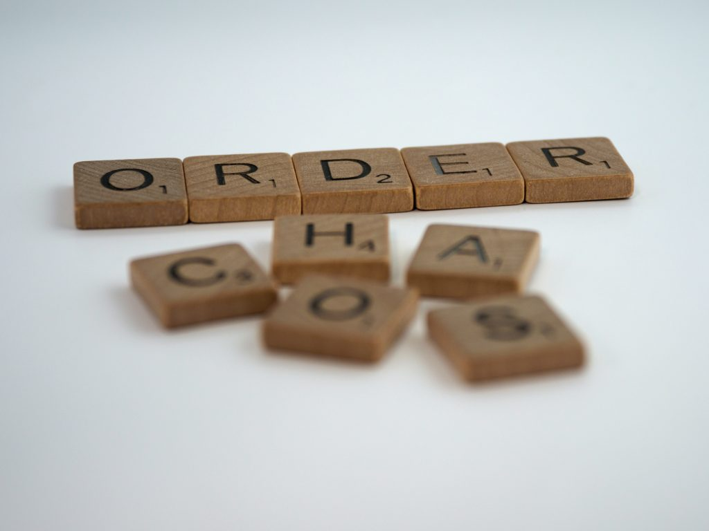 Chaos Into Order tiles - Admin skills as a virtual assistant with Emily Reagan PR